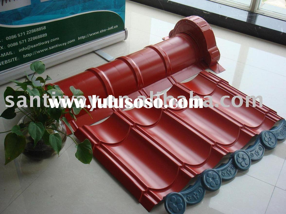 Colored corrugated metal Roofing Tile