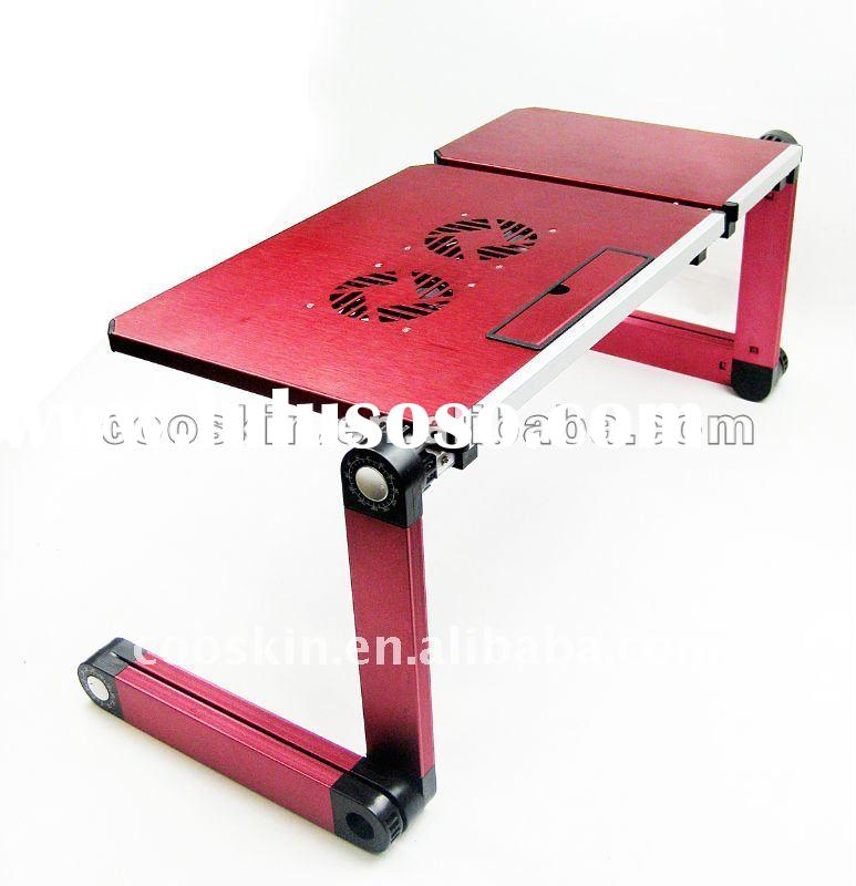 Cooskin Adjustable Laptop Table with cooling fan and mouse padDL-106