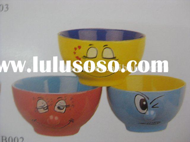Cute face ceramic soup bowl
