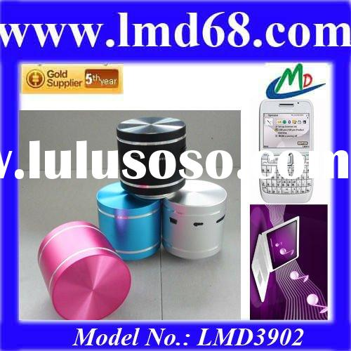 Cylinder Shaped 2012 New&Hot Mini Table Vibration Resonance Speaker Boom Box LMD3902