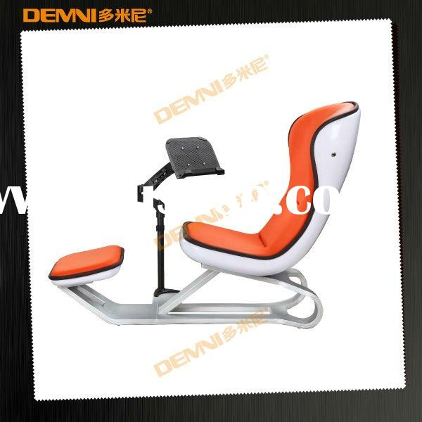 DEMNI Orange eames inspired lounge chair ottoman
