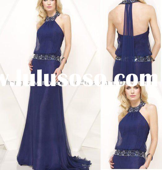 Dark Blue Formal Evening Dress