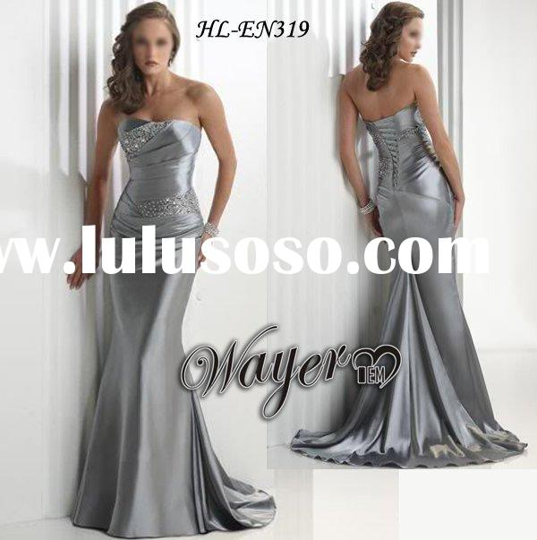 Designer Strapless Beading Mermaid Evening Dress HL-EN319