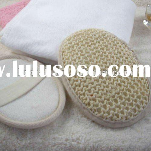 Disposable oval sisal bath pad for hotel use