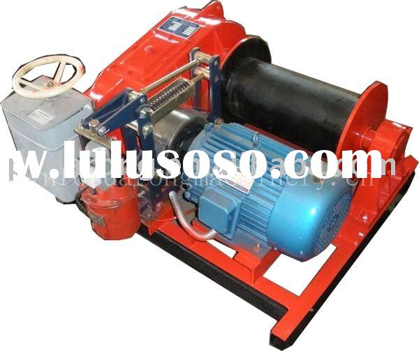 Electric winch front loader