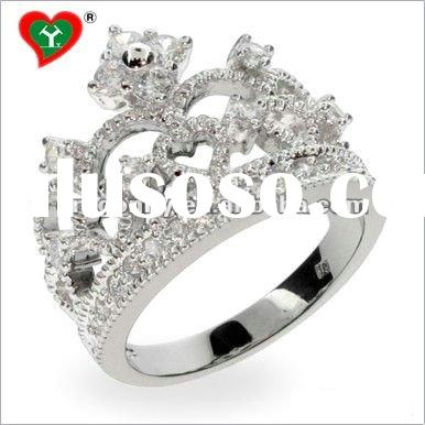 Europe Style Cubic Zircon Fashion Sterling Silver Jewelry