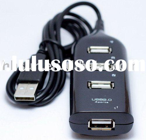 External 4 Port 2.0 USB HUB W/Cable for Laptop