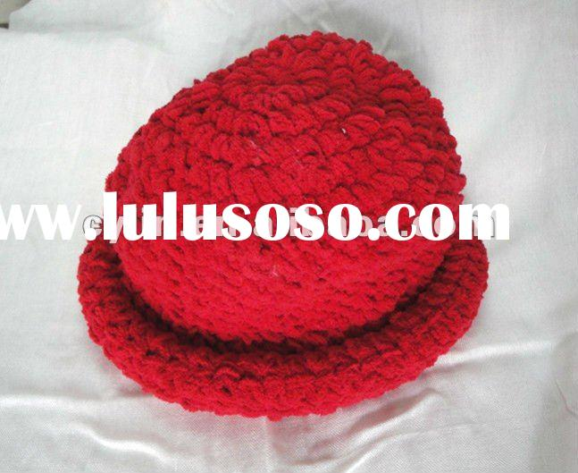 Fashion ladies beautiful crochet chenille hat