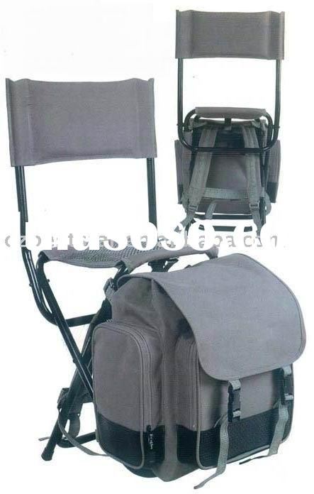 Backpack fishing chair w cup rod holder for sale for Backpack fishing rod
