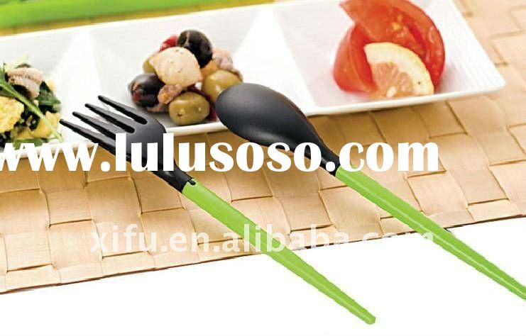 Folding Plastic Spoon and Fork Set in Box,Travel Cheap Spoon Fork