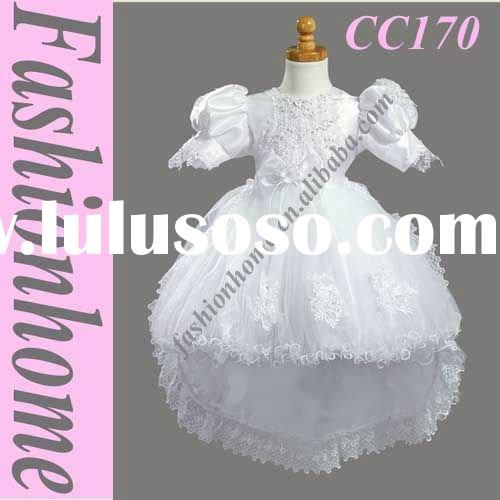 Free shipping Short Sleeve First communion dress CC170