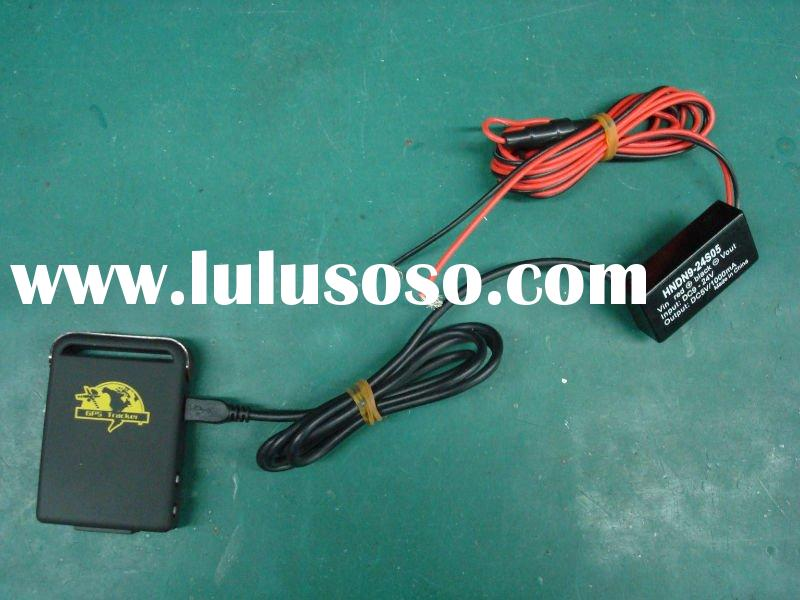 GPS tracker TK102-2 with hard-wired car charger from Shenzhen Xexun