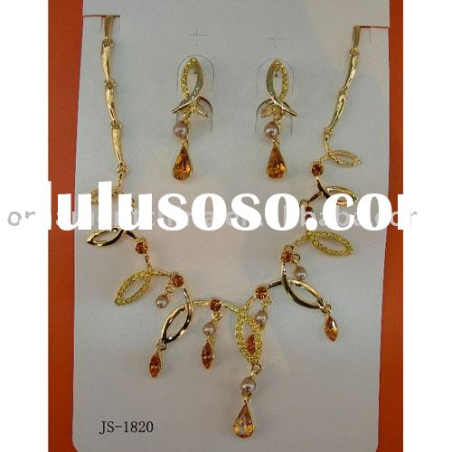 Gold jewelry set/fashion necklace set/diamond jewelry sets/costume jewelry
