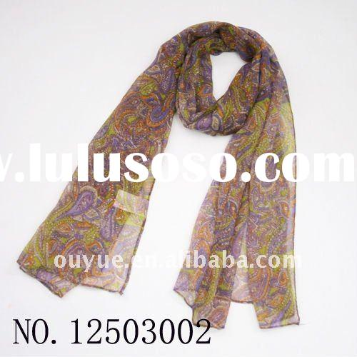 Hot Sale 2012 New Arrival Latest Voile Fashion Scarf