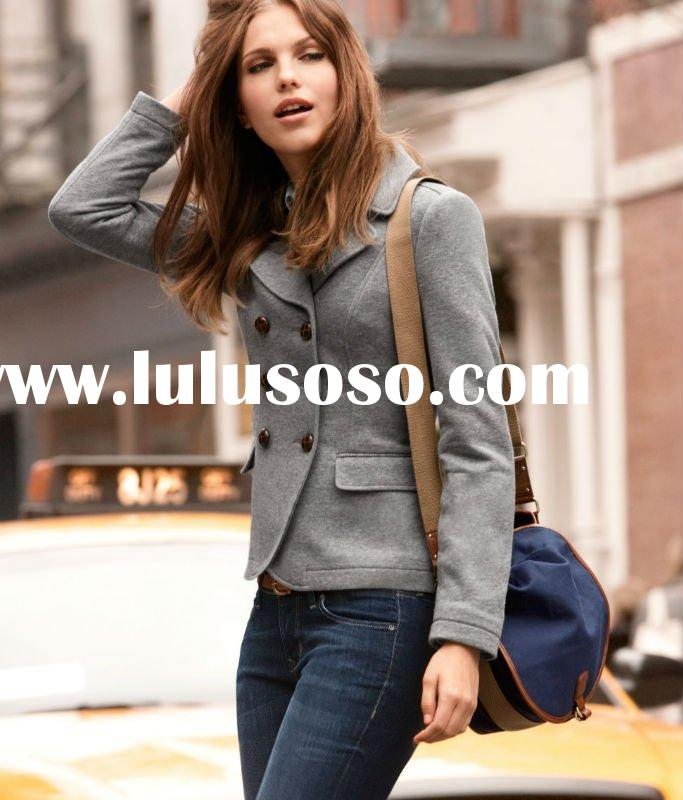 Latest Design Ladies Double-breasted Blazer/ Jacket