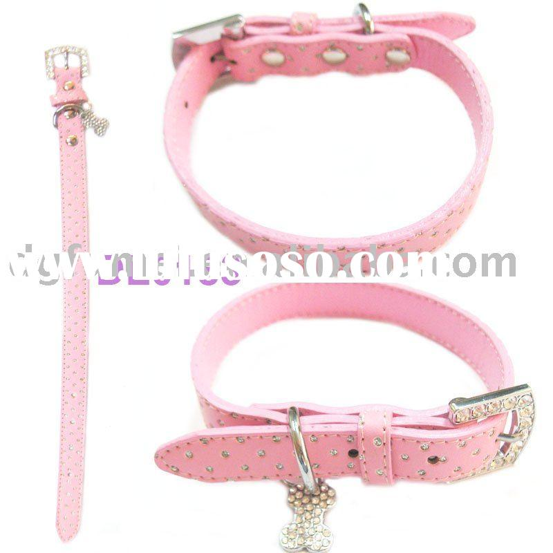 Leather pet dog collars and leashes product(DL0183)