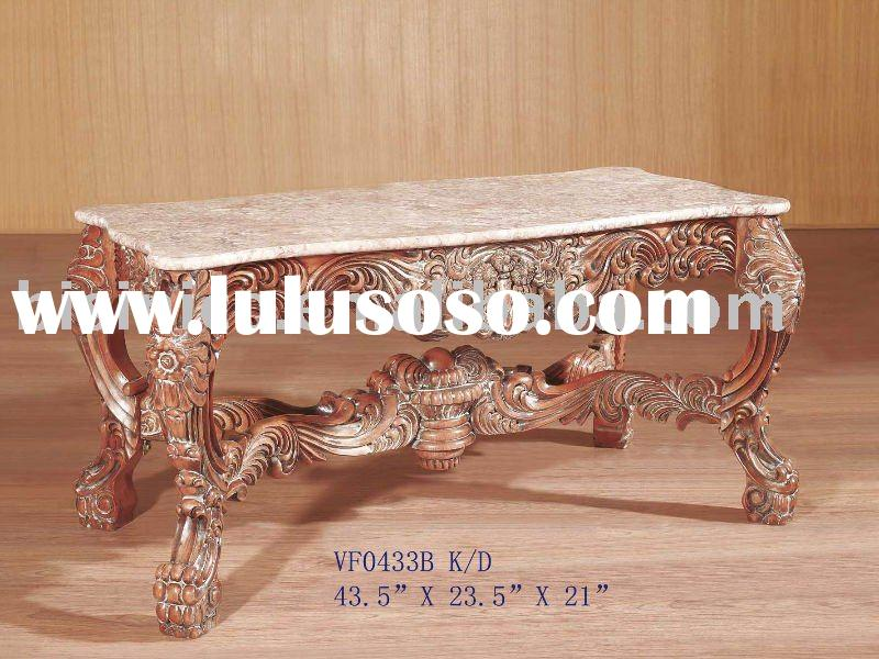 Luxury coffee table with marble top,antique coffee table,solid wood table