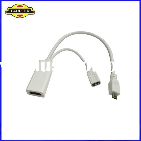 MHL Micro USB HDMI Cable Gold Plated for Samsung i9100 Galaxy S2, HTC EVO 3D, Sensation, Flyer