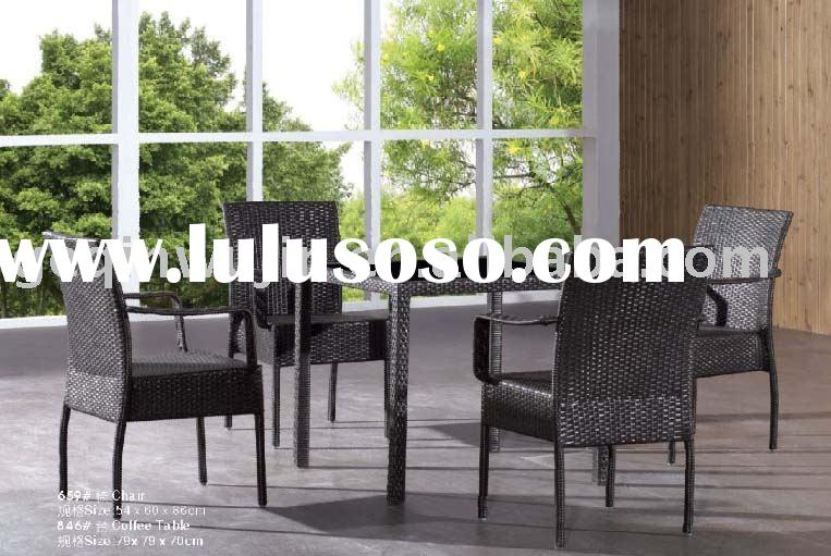 Modern cane dining chair (659# Chair & 846# Table)