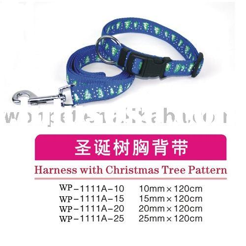 Nylon collar and lead, harness, dog leash, pet products,WONPET