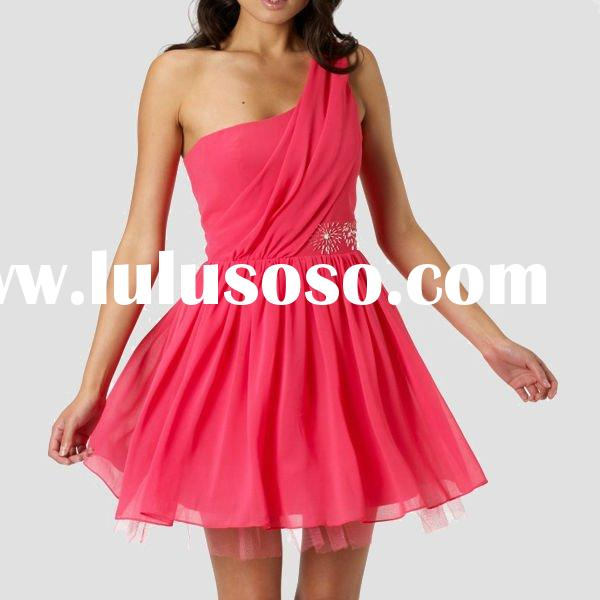 One shoulder cute dresses for party