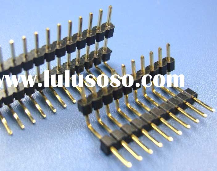 PCB CONNECTOR PIN HEADER SINGLE ROW RIGHT ANGLE TYPE