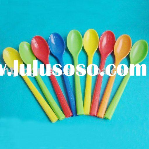 PP Plastic Drinking Colorful Straw, Spoon