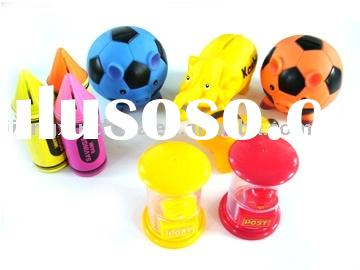Plastic PVC PS money coin bank of various designs