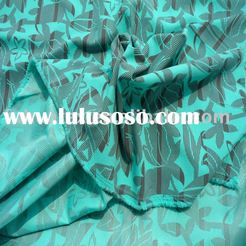 Printed Polyester Peach Skin Fabric
