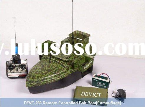 Remote Controlled Bait Boat with Monohull, three bait tank
