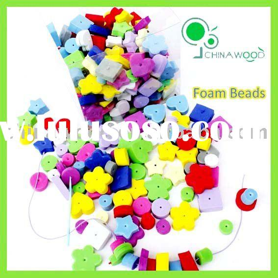 Round,Star,Square,Flower Colored Craft Foam Beads,DIY Foam Beads