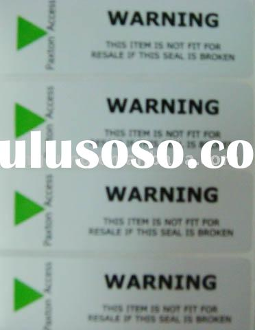Security Tamper seal Sticker label