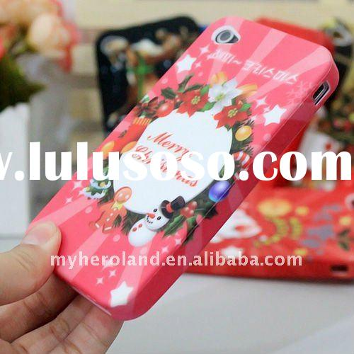 Soft TPU Mobile Phone Case for iPhone 4G Christmas Day Gift for 2012
