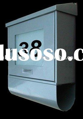 Solar powered house mail box with led light