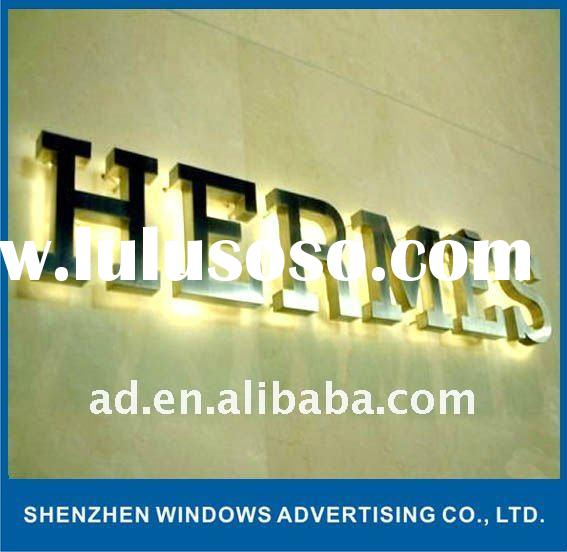 Stainless Steel Letter Sign for Outdoor Use