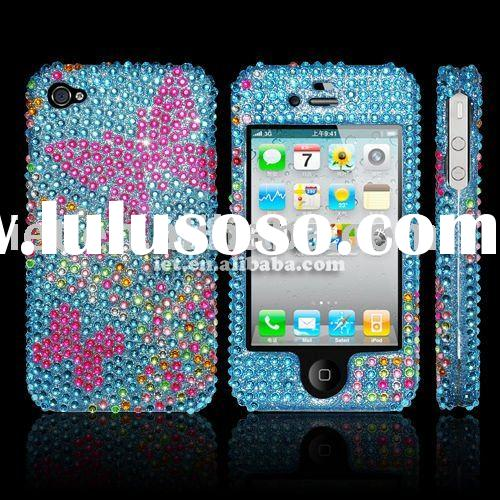 Supply cell phone diamond crystal case for iphone4g