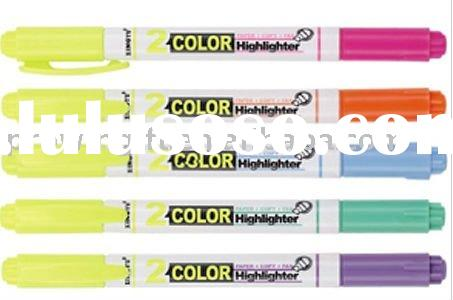 Two color Highlighter pen