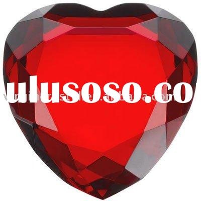 Wedding Crystal Love Heart Diamond Paperweight Favours