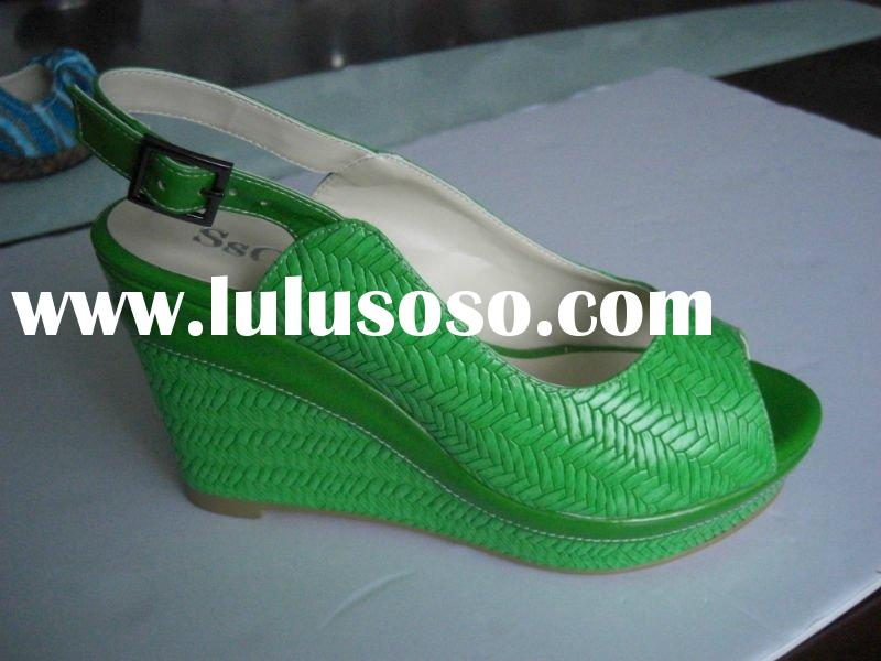 Wedge High Heels Women Shoes Green 5039