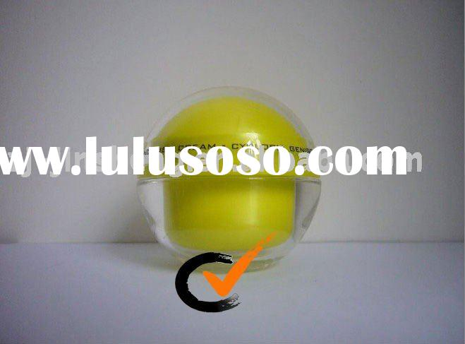 Yellow Plastic Transparent Cosmetic Packaging Acrylic Ball Jars