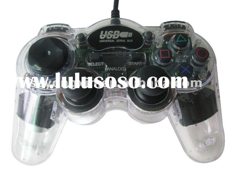 cheap pc usb game joypad with double vibration