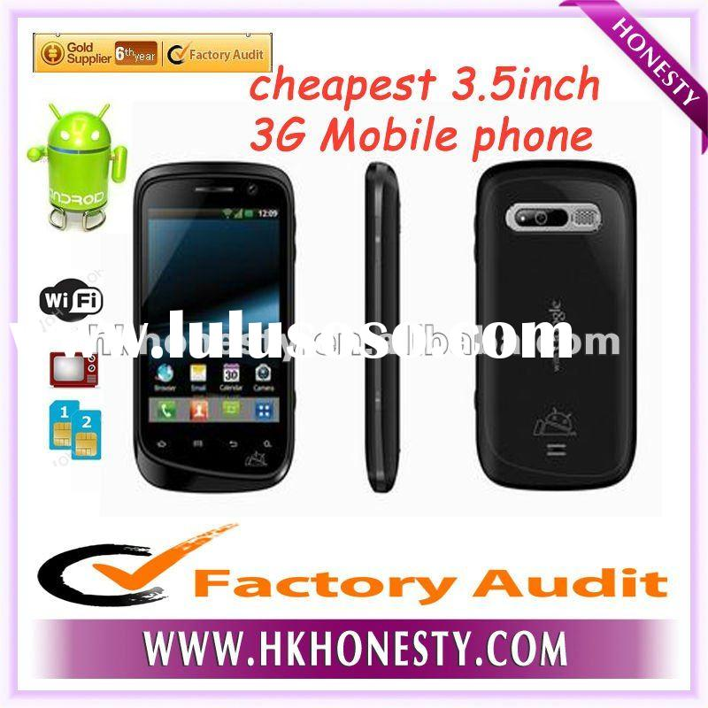 cheapest hot selling 3.5inch 3G MTK6573 android mobile phone