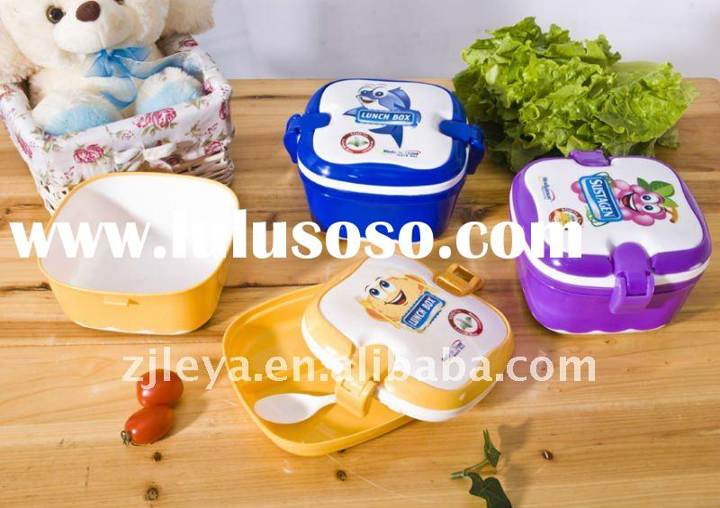 children plastic lunch box with handle