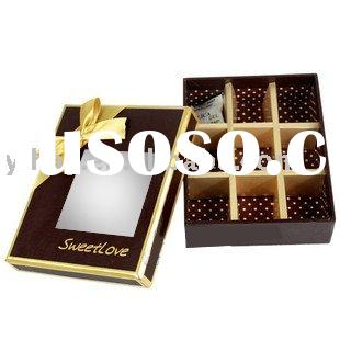 chocolate window candy boxes
