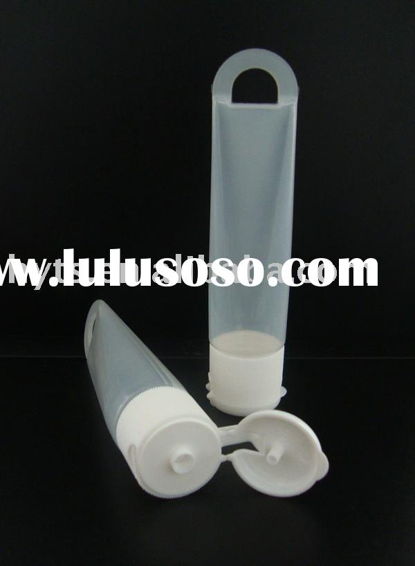 cosmetic tube with flip top cap