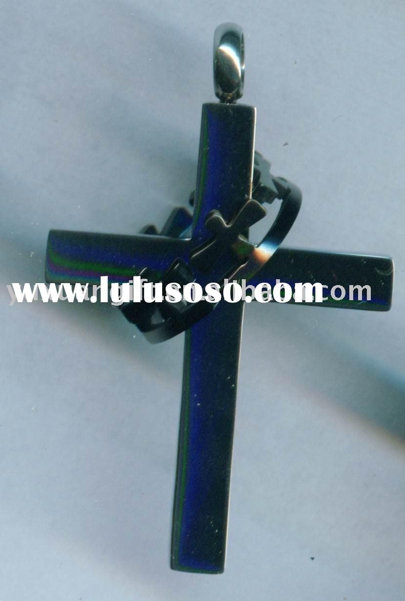 cross and crown pendant