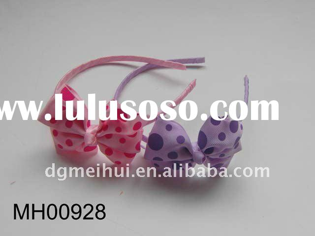fashion bow knot hairband with braids for kids