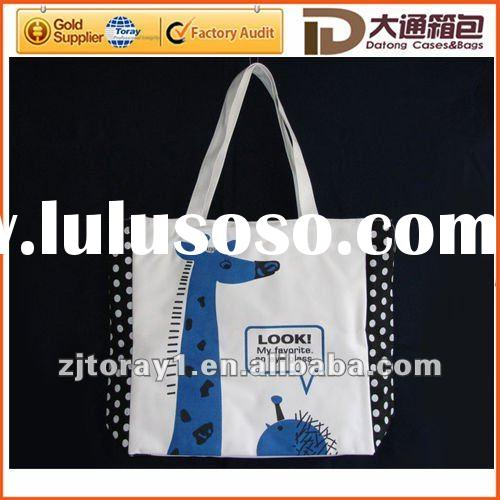 fashion printing ladies canvas handbag