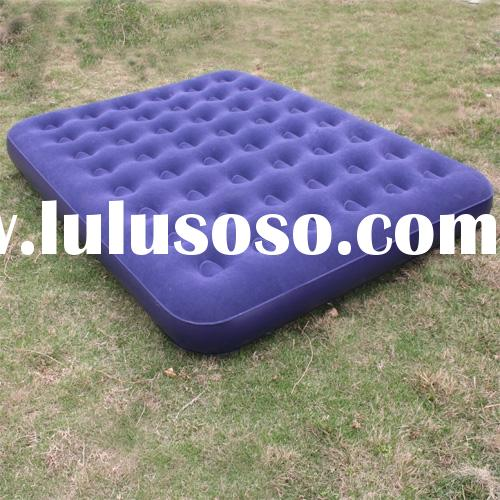 flocked queen air bed