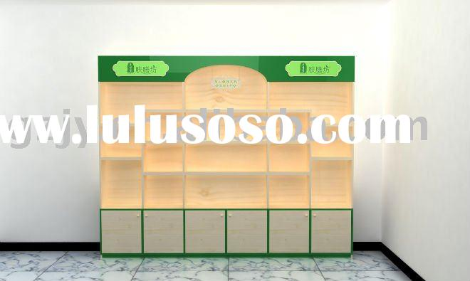high-grade high wood cosmetic display stand